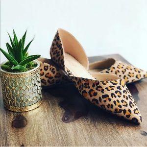 Leopard animal prints cut out flats women shoes